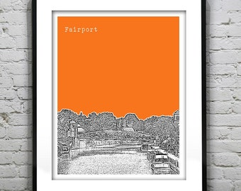 Fairport New York Poster Print Art Skyline NY