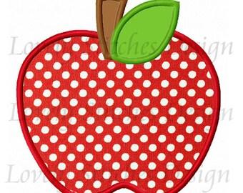 Apple Applique Machine Embroidery Design NO:0227