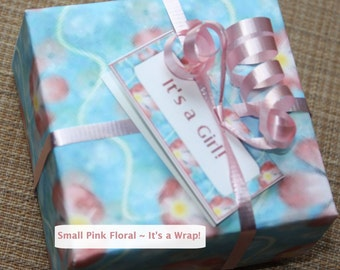 Pink Floral Baby Gift Boxes - Origami - Gift Boxes Set of 12 - Baby Girl Gift Boxes