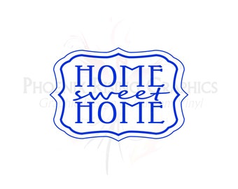 "Home Sweet Home - Vinyl decal - 11""x7.5"""