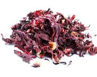 Hibiscus Flowers Red 16 Oz Dried Great For Crafting or Soaps or tea Blends