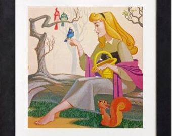 Disney Vintage Art Print - Aurora - Sleeping Beauty