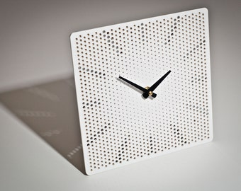 White Contemporary Square Clock