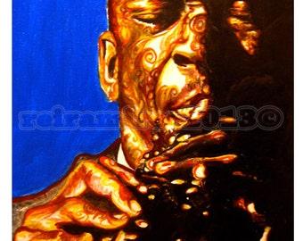 John Coltrane portrait print and Canvas