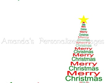 12x12 1-page Personalized Scrapbook  Paper (Christmas Tree)