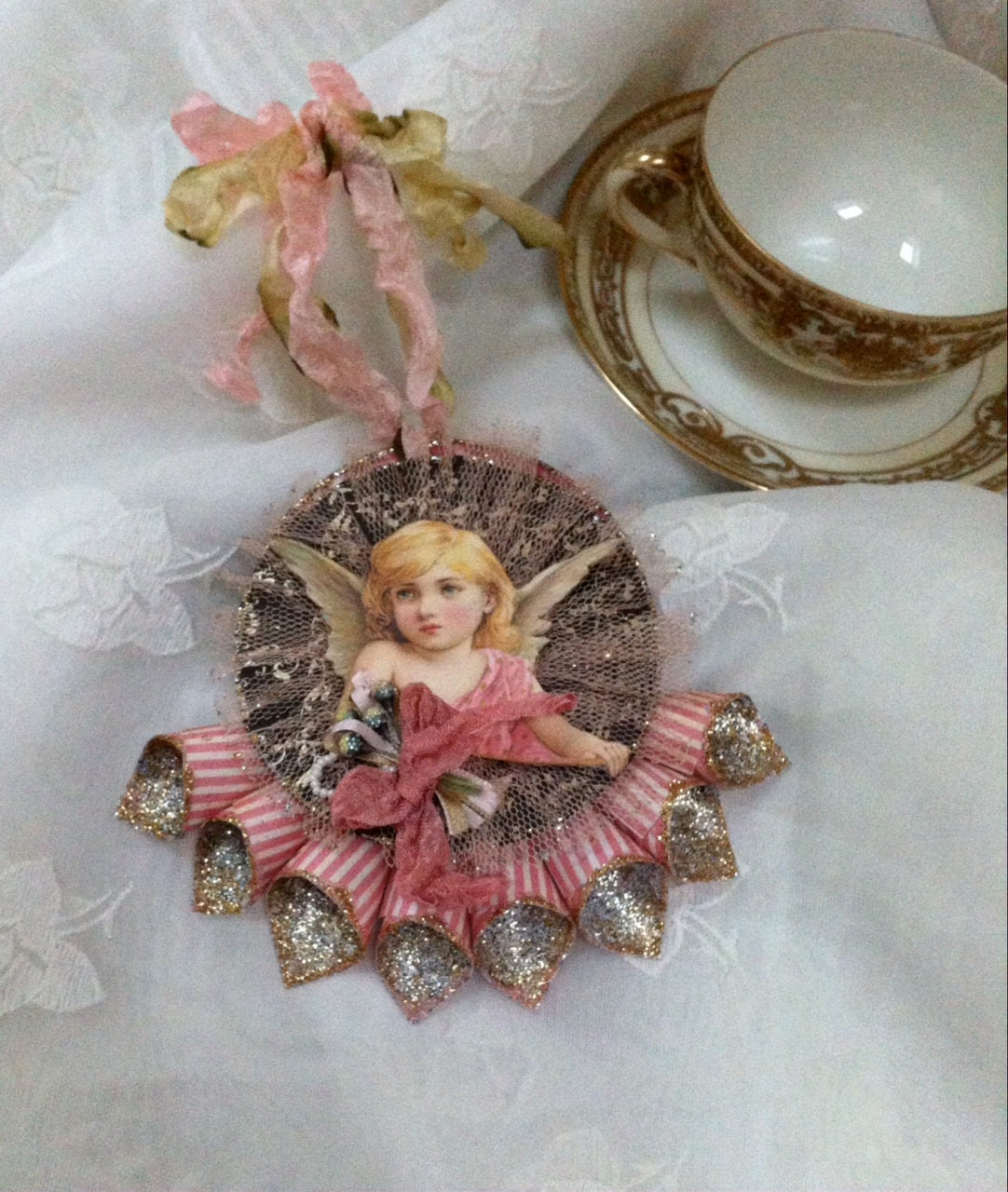 Reduced Christmas Decorations: Clearance Sale Reduced Victorian Cone Ornament Christmas