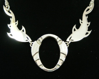 Down Under Shark with negative space, Sterling Silver, Hand made, Mirror finish,
