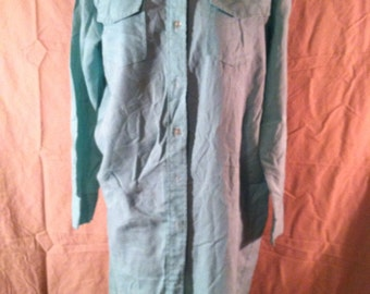 Vintage mint green Carol Brent shirt dress