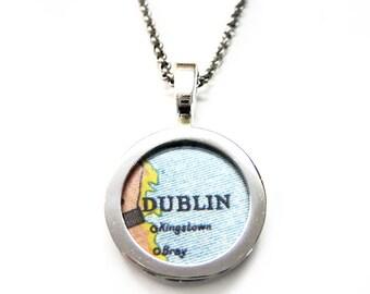 Dublin Map Pendant Necklace