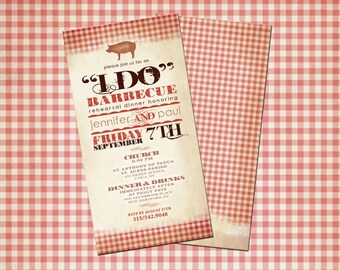 I Do Barbecue Rehearsal Dinner Invitations! (25 QTY with Envelopes)