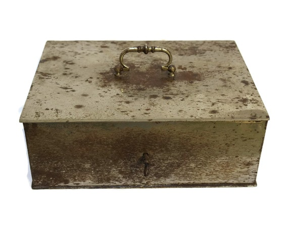French Vintage Strong Box Steel Safe