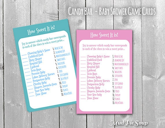 baby shower game how sweet it is car tuning