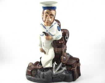 CERAMIC SAILOR, figurine, statue,vintage figurine, porcelain,nic nac,