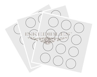 Inkedibles premium Frosting Sheets 24 sheets: Precut 2.5 inch circles (12 circles per sheet) on A4 size backing