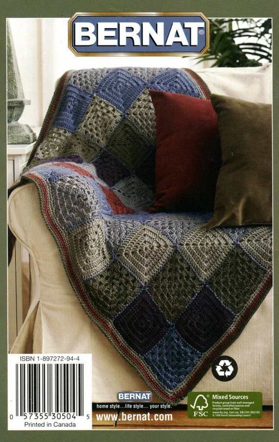 KNITTING & CROCHET AFGHANS Pattern Book 4 Designs by KenyonBooks