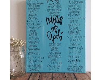 names of God // 11x14 canvas