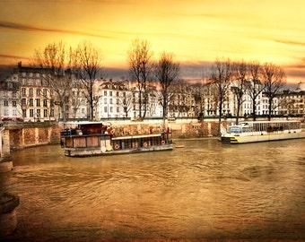 Paris Photography, Paris Art, Paris Prints, French Art, French Photo, Golden Seine River, Left Bank Art, Paris Photo Print Photo, Fine Art