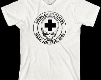 Grateful Dead T Shirt  ... Lot Shirt ... Help on the Way ... American Dead Cross