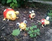 Pikmin Themed Bulborb Garden Ornaments--Small