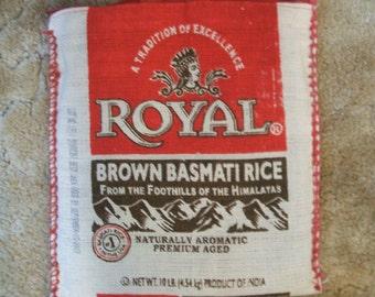 Basmati Rice Bag Purse Tote