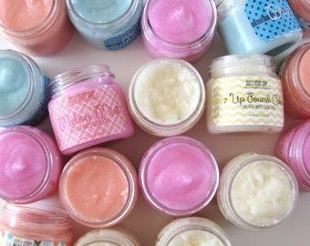 Emulsified Whipped Sugar Scrub - Choose your Own -Handmade Body Polish - Party Favor - Choose Ten -Sample Size - Bath and Body - 1 oz