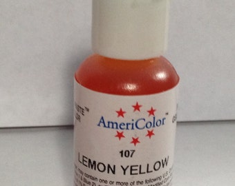Americolor Gel Paste - Food Color in Lemon Yellow