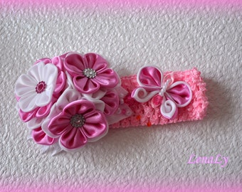 Headband from flowers kanzashi