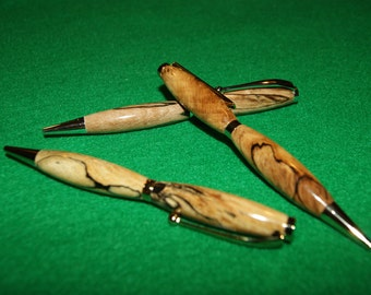 Hand Made Custom Wood Pens Made to Order-Burls and Ebony