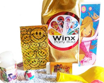 Winx Club loot/party bag with 9 items inside, great value its all done for you