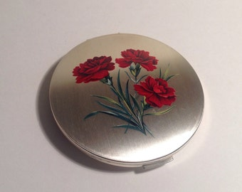 Stratton Silver Plate & Enamelled Powder Compact.
