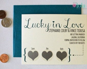 Scratch Off Save the Date - Lucky in Love