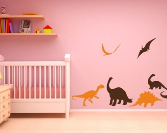 Vinyl Wall Decal Dinosaurs Set
