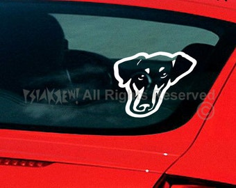 Dog Decal Dobermann, Vinyl Sticker Decal - Good for Walls, Cars, Ipads, Mirrors Etc