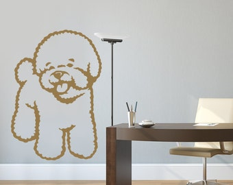 dog decal bichon frise vinyl sticker decal good for walls cars ipads mirrors etc - Frise Vinyle