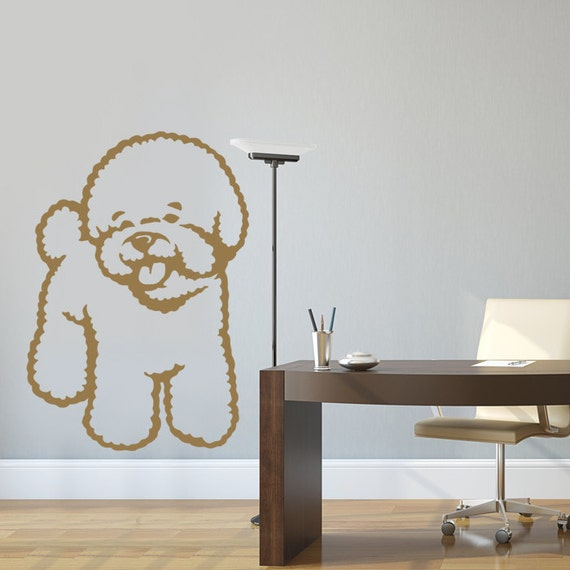 Dog Decal Bichon Frise Vinyl Sticker Decal Good For Walls