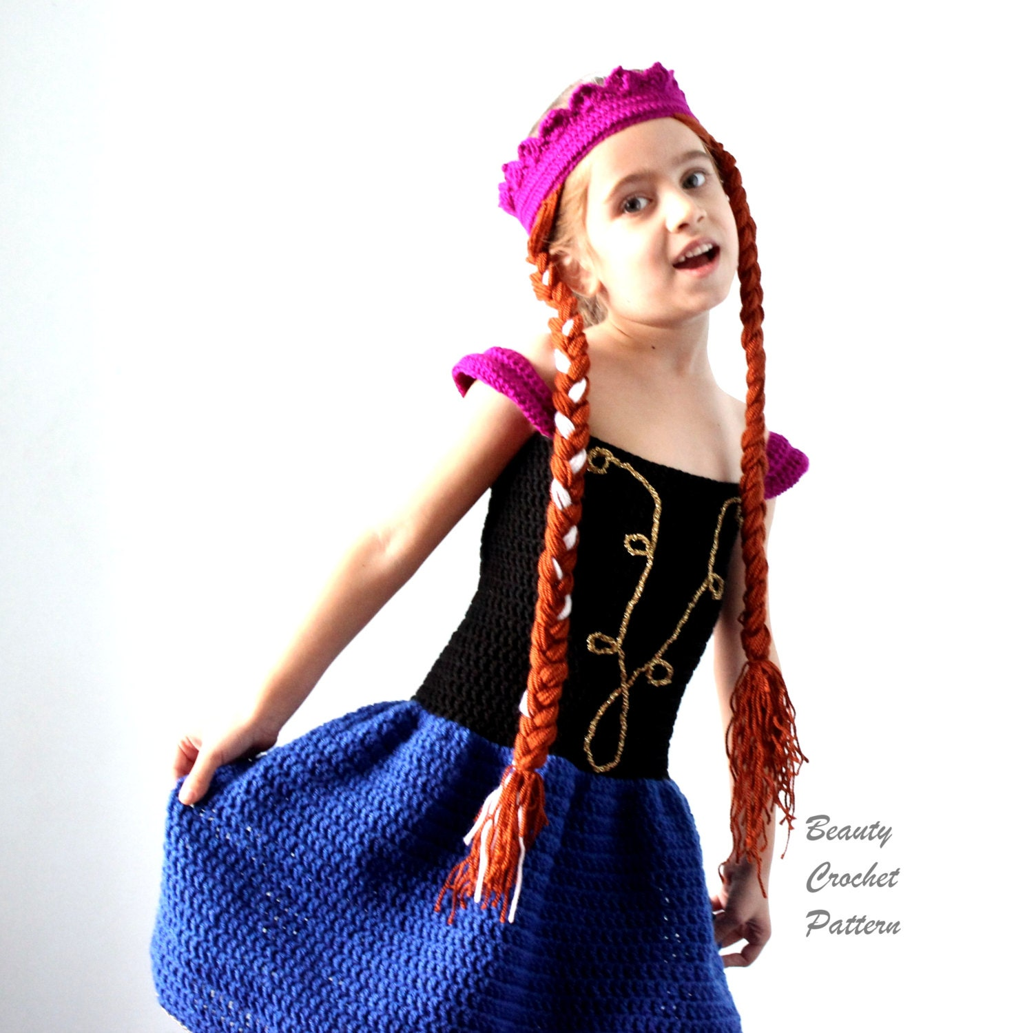 Crochet anna dress and wig pattern anna frozen crochet set zoom bankloansurffo Gallery