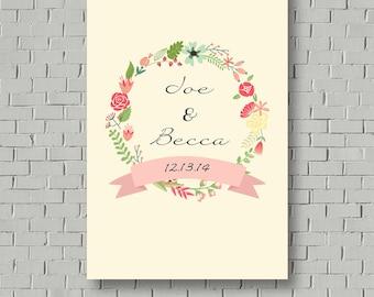 Guest Book Print - Guest Book Alternative - Wedding Gift - Bridal Shower Gift - Anniversary Gift - Wedding Keepsake - Wedding Poster
