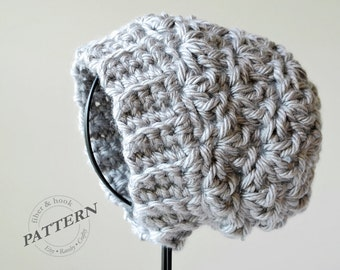 CROCHET PATTERN - Newcastle Chunky Beanie, Chunky Hat Pattern, Slouchy Hat, Easy Crochet (Toddler, Youth, Adult Sizes) pdf #029H