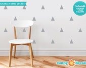 Triangle Fabric Wall Decals  - Set of 32  Triangles  - Custom Options Available - Triangle Pattern Decor - Reusable, Repositionable