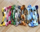 DMC embroidery floss - Destash set of 30 skeins mercerized cotton thread - Mouline special - Cross stitch supplies - Needlecraft supply