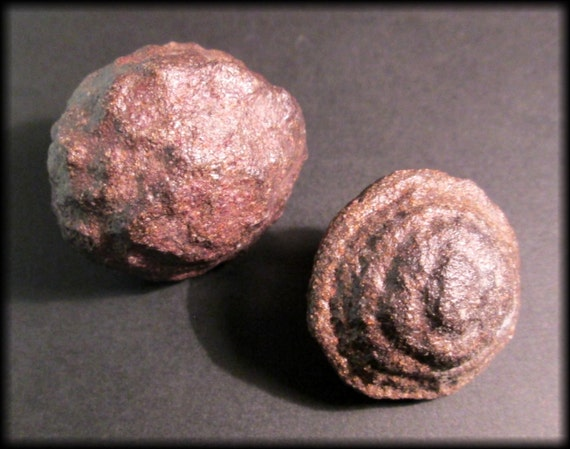 Shaman Stones Moqui Marbles Sandstone Concretions Matched Pair