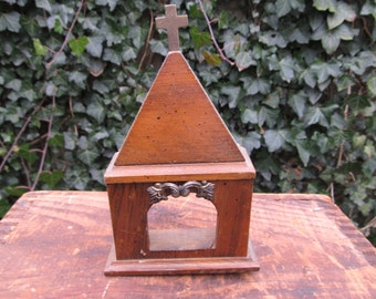 Vintage Wooden Church Steeple Top - Architectural Wood Piece