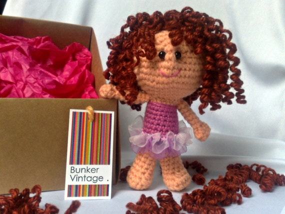 Amigurumi Curly Doll : Amigurumi curly hair doll fairy crochet