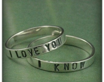 i love you i know wedding rings always and forever his and hers wedding bands in solid 5049