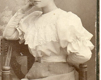 Antique Photo of Beautiful Young Woman
