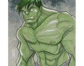 The Incredible Hulk Original Sketch