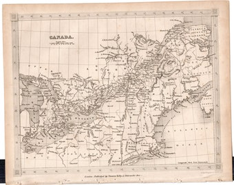 1843 Vintage Map of Canada #00136