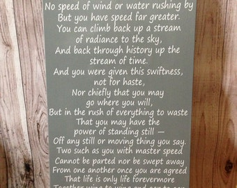 """Robert Frost Poem The Master Speed 12""""x24"""" Wood Sign Home Decor"""