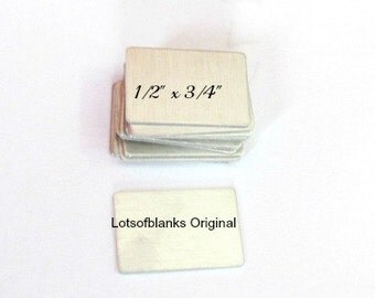 Metal Blanks for DIY Projects - 24G - Aluminum Hand stamping metal blanks   -Stamping Supplies 5 or more