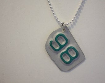 98 License Plate Pendant Necklace